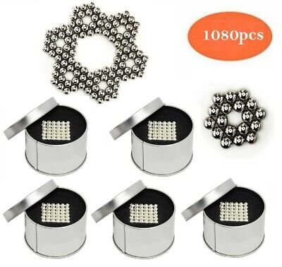1080 Neodymium Balls 5mm Strong Silver Magnets - Free Priority Mail