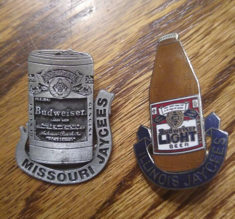 **Very Good** Set of Budweiser Jaycee Pins