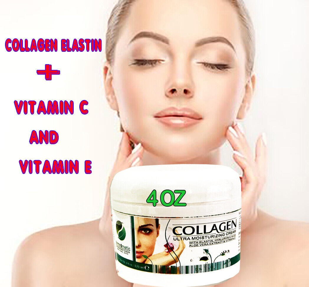 Collagen Hidrolysate and Elastin Fast Absorbing Cream - Face & Neck ( 4 Oz ) NEW