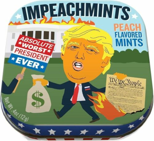 Trump Impeachmints Funny Peach Flavored Mints in a Tin