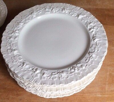 8 Wedgwood Queensware Cream On Cream Shell Edge SALAD PLATES
