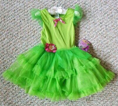 Tinkerbell Tutu Dress (Disney Tinker Bell Tutu Dress NEW with Tags Girls Green Size S)