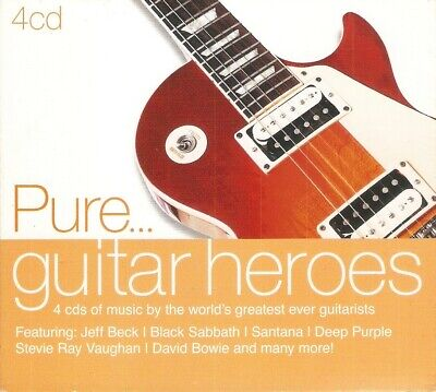 Various - Pure... Guitar Heroes (4xCD 2010) Boston; Sweet; Nugent; Outlaws; Beck