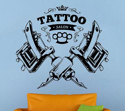 Tattoo Salon Wall Decal Tattoo Parlor Vinyl Sticker Shop Logo Wall Art Decor 1ts - Salon Decorations