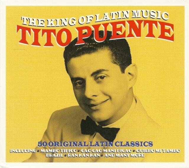 THE KING OF LATIN MUSIC TITO PUENTE - 2 CD BOX SET - 50 ORIGINAL LATIN CLASSICS
