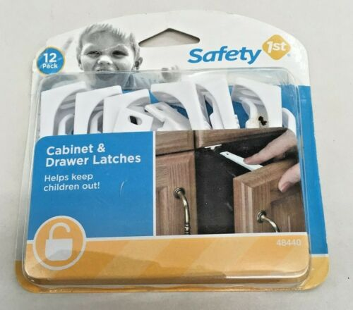 Safety 1st Cabinet & Drawer Latches 12 Pack New in Factory Sealed Package