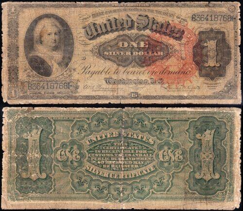 "Circulated 1886 $1 Ornate Back ""MARTHA"" Silver Certificate! FREE SHIP! B36418768"