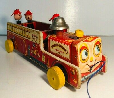 Vintage Fisher Price Winky-Blinky Fire Truck 200 1954-1959