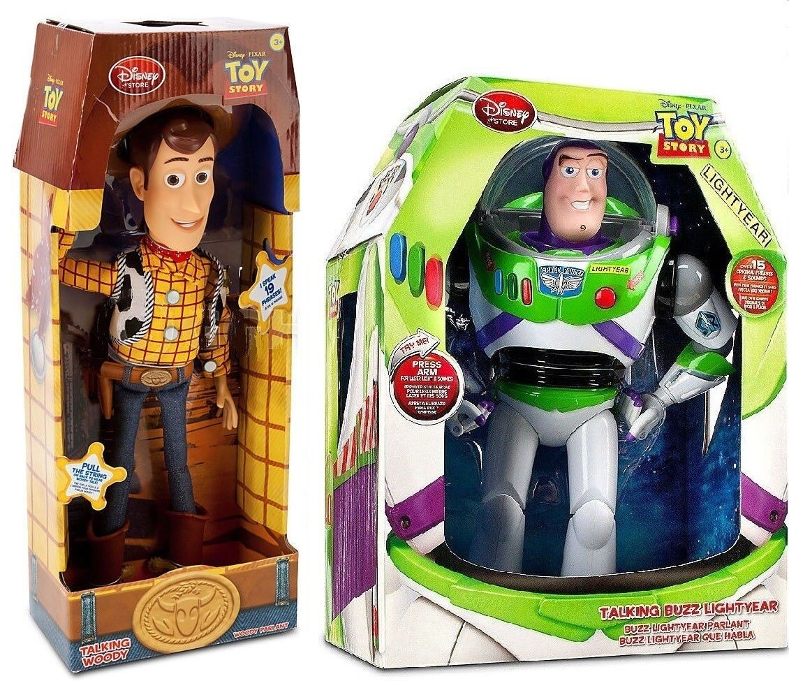 Rope Lights Woodies: Disney Toy Story TALKING Cowboy Woody & BUZZ Lightyear