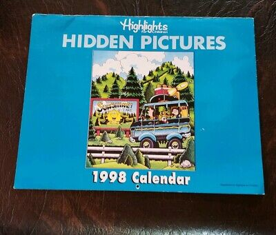 Vintage 1998 HIGHLIGHTS HIDDEN CHILDRENS CALENDAR & BERRY FAMILY FELT BOARD SET