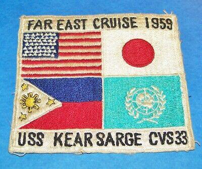 ORIGINAL JAPANESE MADE USS KEARSARGE CVS33 FAR EAST CRUISE 1959 PATCH