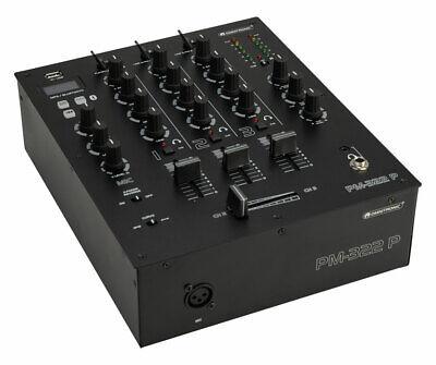 Omnitronic PM-322P DJ Mixer mit Bluetooth & MP3-Player 3-Kanal Mischer USB XLR