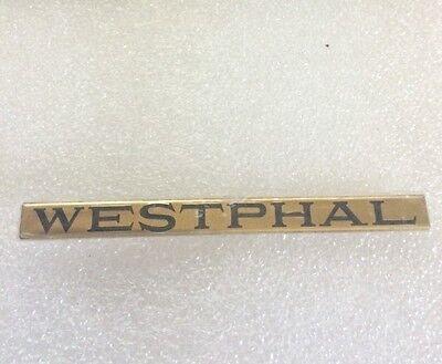 LIONEL & MTH PREWAR STD GAUGE PASSENGER CAR BRASS NAME PLATE WESTPHAL
