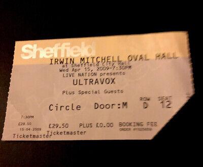 Ultravox Ticket Stub Sheffield City Hall 15 Apr 2009 - Rare Concert Memorabilia comprar usado  Enviando para Brazil