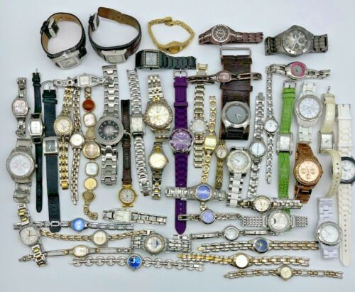 Lot of 50 RELIC Watches, Modern to Vintage, Quartz Steel/Leather, Men