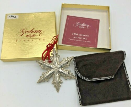 Gorham Sterling Silver 1996 Annual Snowflake Ornament, with box