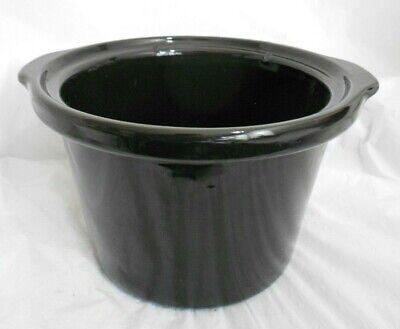 Rival 4 Quart Slow Cooker - RIVAL CROCK POT SLOW COOKER SCR400-B STONEWARE LINER INSERT BLACK 4 QT QUART