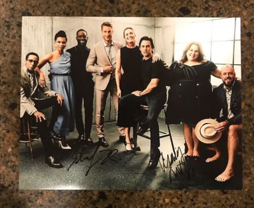 * THIS IS US * signed autographed 11x14 photo * STERLING BROWN & CHRISSY METZ *