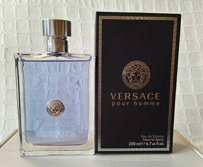 VERSACE Pour Homme Eau De Toilette 200ml Spray BNIB Not Sealed With Free Gifts