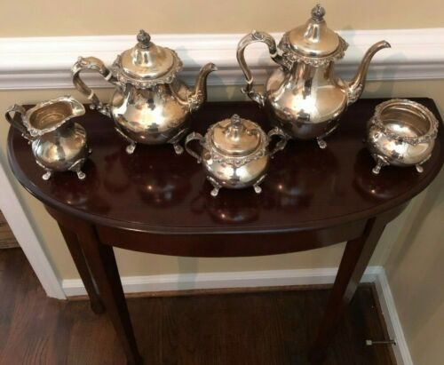 Vintage Gorham  5 Piece Sterling Silver Tea Set