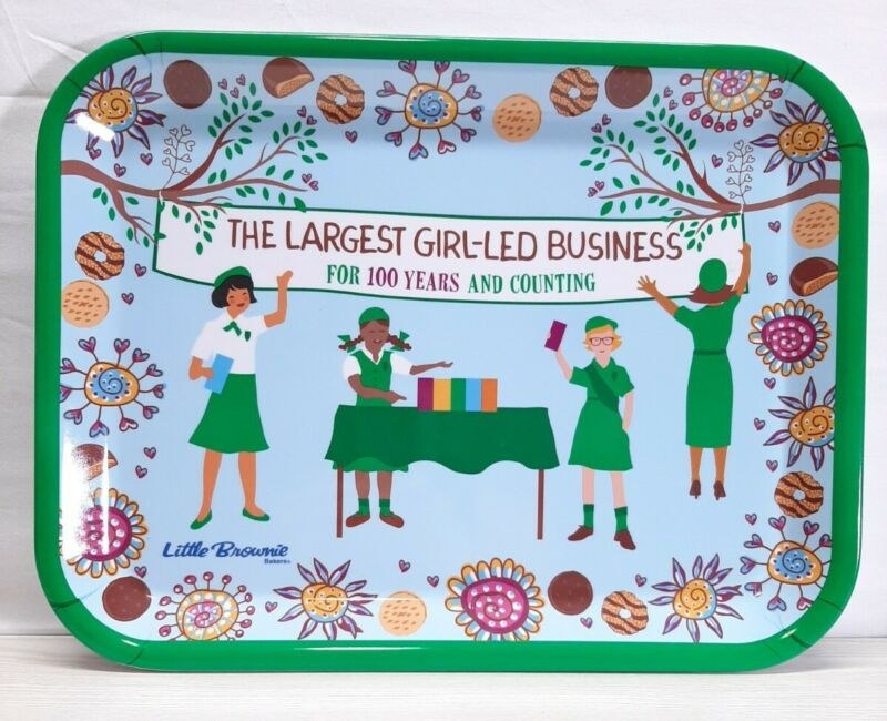Girl Scout 100 year Little Brownie Baker Cookie Tray  Anniversary