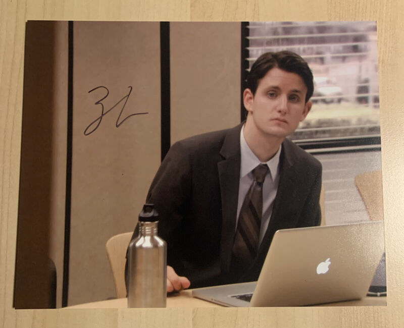ZACH WOODS HAND SIGNED 8x10 PHOTO ACTOR AUTOGRAPHED THE OFFICE SHOW RARE COA