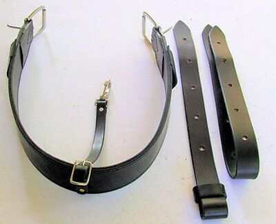 Amish made BLACK color USA Genuine Leather Back Cinch WESTERN HORSE Rear Girth