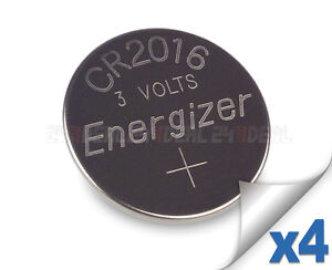 4 PC ENERGIZER CR2016 WATCH BATTERIES 3V LITHIUM CR 2016 DL2016 BR2016