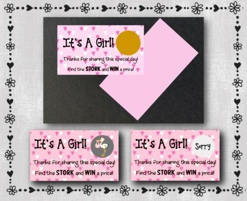 11 Baby Shower Scratch Off Cards - It