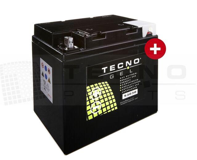 TECNO GEL Marken-Batterie 53030 = Y60-N24-AL = Y60-N30L-A - Fahrzeuge s. unten