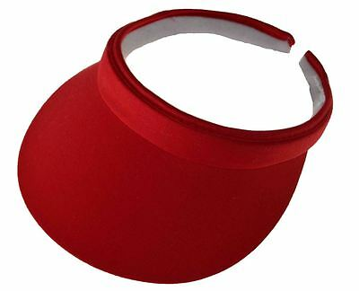 (Cotton Twill Clip-On Visor Red)