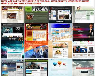 600 Plus Premium Wordpress Themes Templates With Resell Rights  Cd