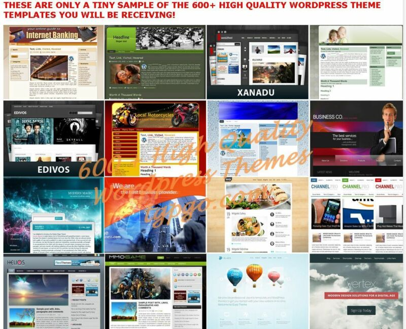 600+ Premium WordPress Themes Templates + 900 Landing Pages