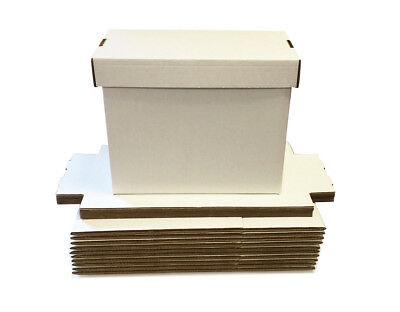 20 Premium Short Comic Storage Boxes Brilliant White 150 Comic Book Storage Max