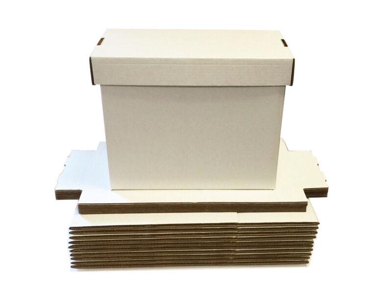 5 Max Pro Short Cardboard Comic Book Storage Boxes box holds 150-175 comics