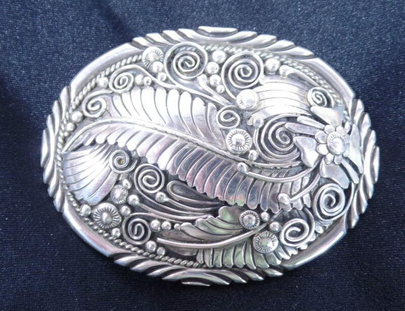 Begay Sterling Silver Belt Buckle ~ Beautiful Work Looks Great