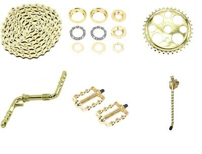 """NEW GOLD TWISTED BICYCLE CRANKS 5 /& 1//2/"""" LOWRIDER CRUISER CHOPPER"""