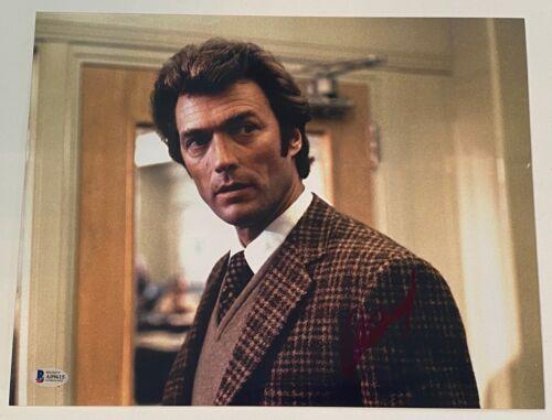 Clint Eastwood Signed Autographed 11x14 Photo Dirty Harry Beckett BAS COA LOA