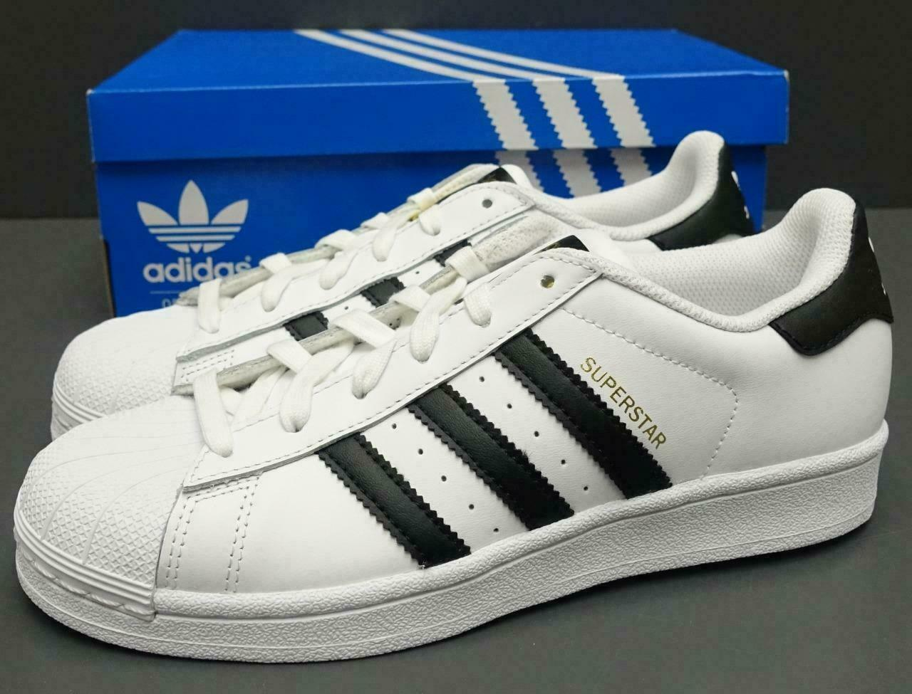 Adidas Originals Superstar Shoes NEW AUTHENTIC White Black C77153 Womens Sizes