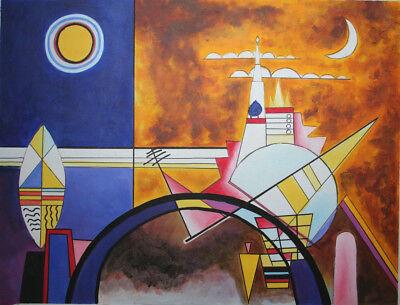 handgemalte Reproduktion Ölgemäldes, Kandinsky, Das große Tor zu Kiew, 80x100cm