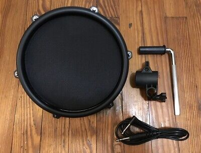 "NEW Alesis 8"" Mesh Pad w/Cable & L-Bar Drum Single Zone Tom Nitro DM6"