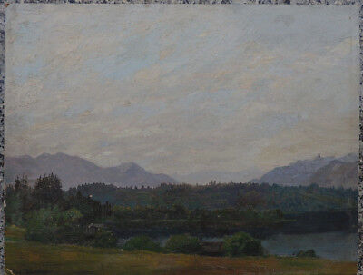 Robert BÜCHTGER 1862 - 1951 - Landschaft  , Ölgemälde