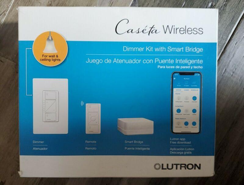Lutron Caseta Wireless Dimmer Kit with Smart Bridge ▪︎FOR WALL & CEILING LIGHTS▪