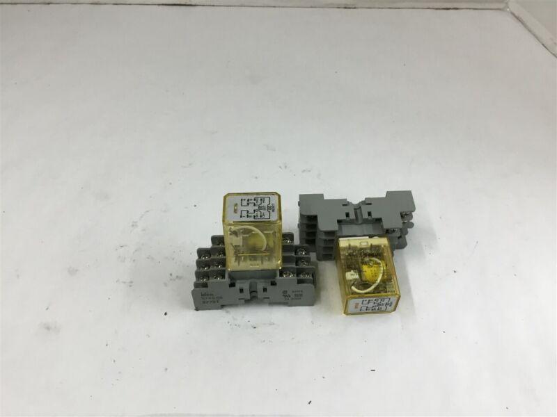 Idec RY2LS-U 3 amp Relay 120 volt coil Lot of 2