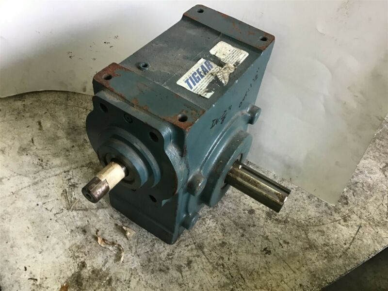 "Dodge Tigear 2 35S25R Right Angle Gear Reducer 25:1 Ratio 7/8"" In 1.5"" Out"