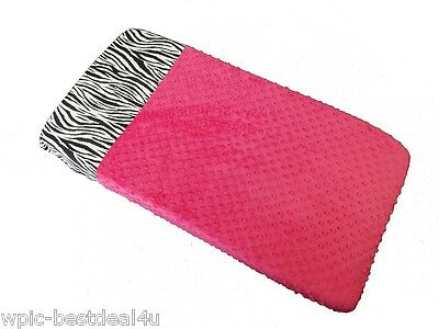 Sisi Baby Design Diaper Changing Table Pad Cover - Hot Pink Zebra