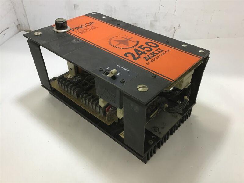 Fincor Incom 2450 Mkii Dc Motor Control