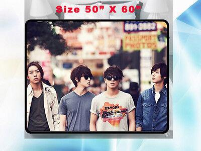 Cnblue Kpop Blue Moon Korean Group Fleece Blanket 2 Home Gift 50 X60