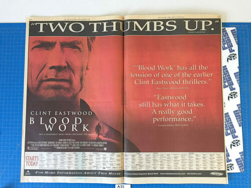 New York Times Blood Work/Martin Lawrence Live Full Page Newspaper Ad (2002) A22