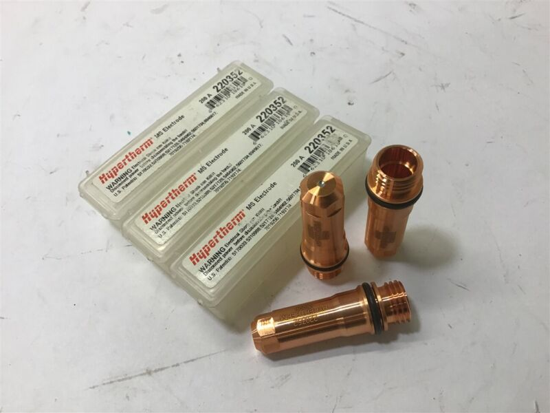 Hypertherm 220352 Ms Electrode 200 A Lot Of 3